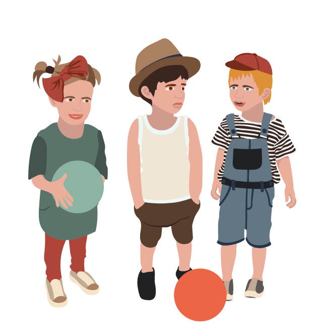 børn tre små
