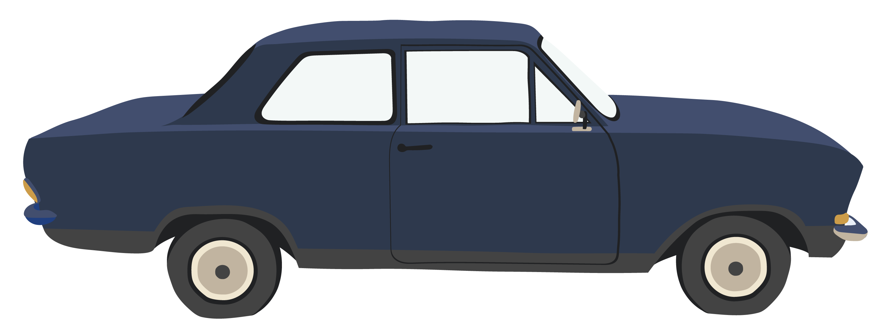 bil blå