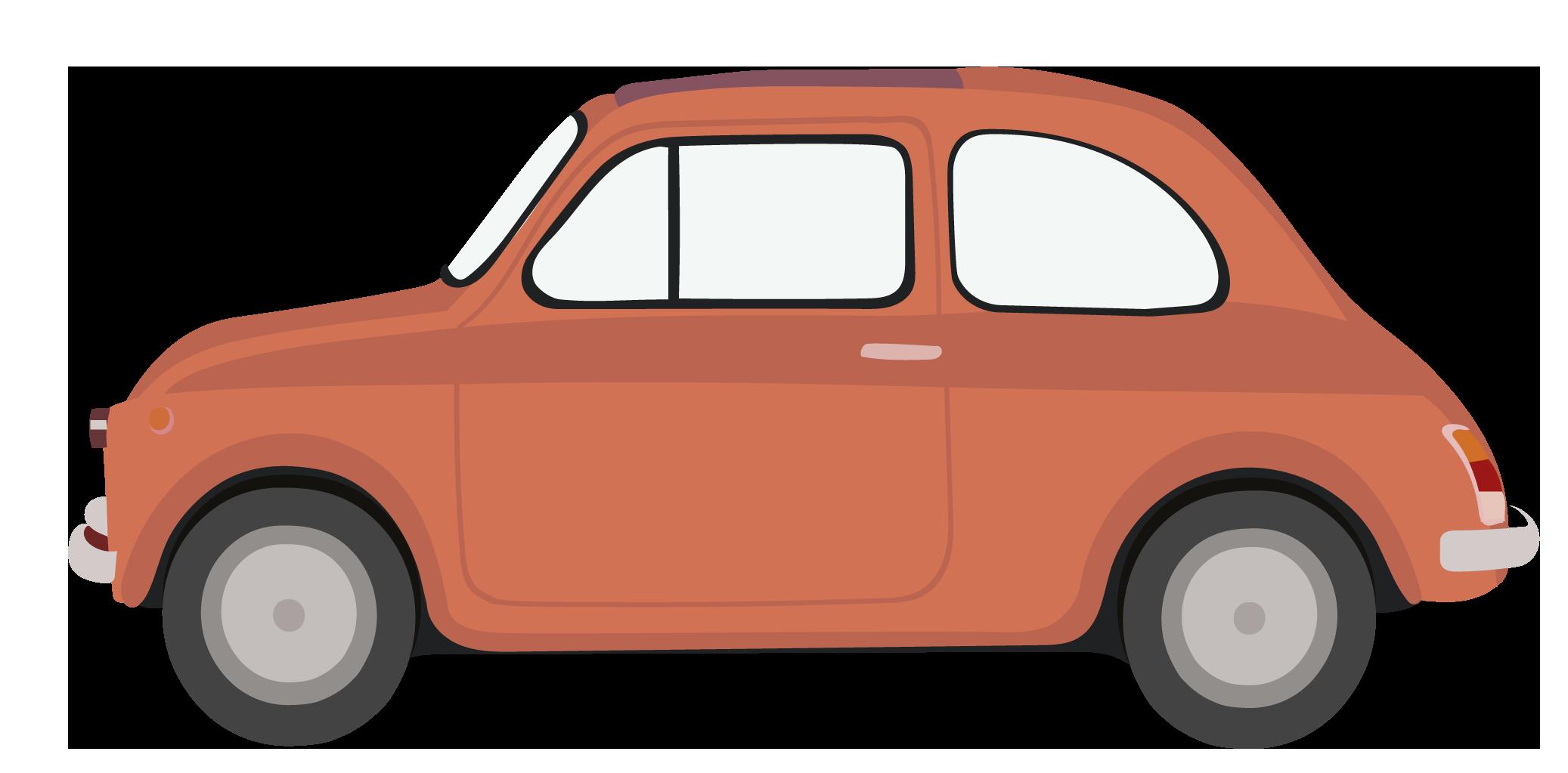 bil rød