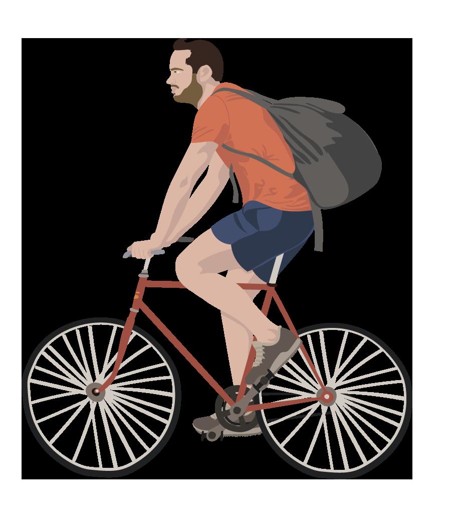 cykel mand