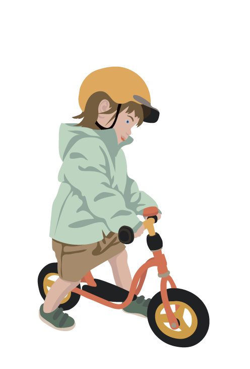 løbecykel pige