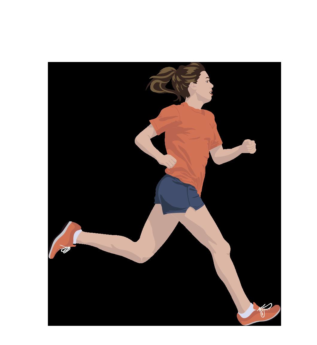 løber pige