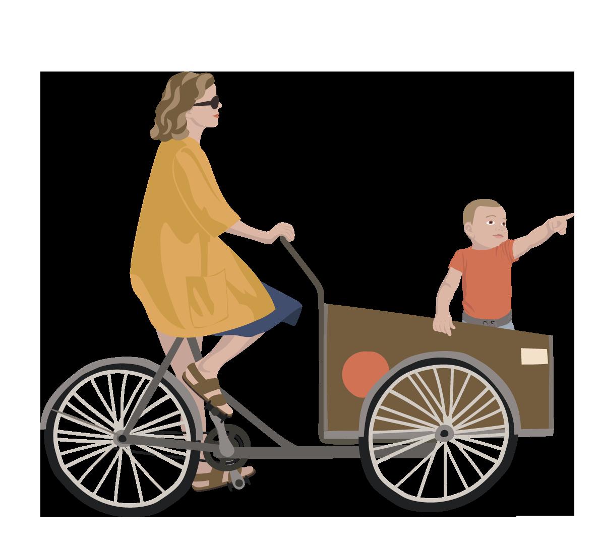 ladcykel mor og barn